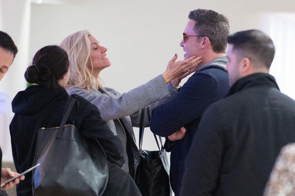 Ben Affleck undLindsay Shookus amJFK Flughafen in New York