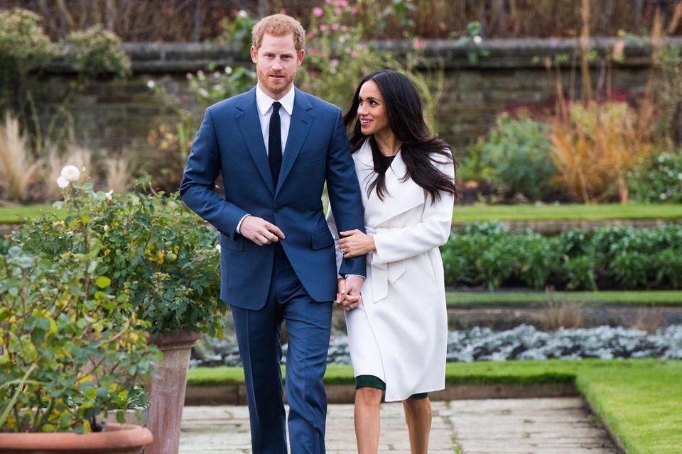 Prinz Harry und Meghan bei der Verkündung ihrer Verlobung