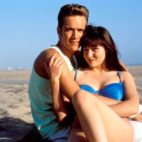 "Luke Perry und Shannon Doherty in ihrer Rolle in ""90210, Beverly Hills"""