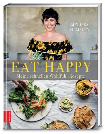 """Ob kalifornischer Grünkohlsalat oder Zatar-Hühnchen, alles steht in nur 30 Minuten auf dem Tisch! Kultköchin Melissa Hemsley verrät 120 neue Rezepte für gesunde Alltagsküche mit Wohlfühleffekt. (""""Eat Happy"""", ZS Verlag, 288 S., 24,99 Euro)"""