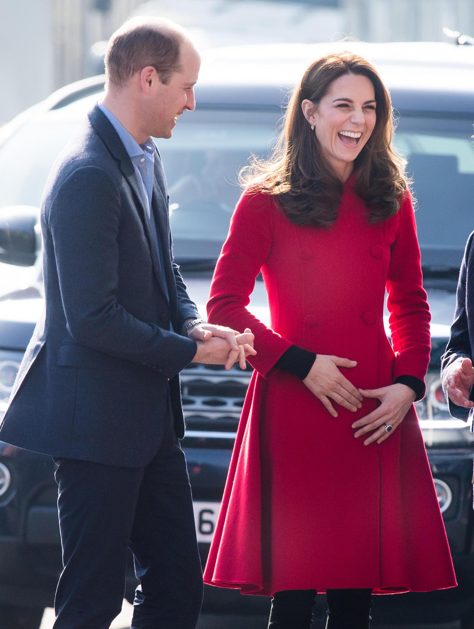 Die Dreifach-Mama wirkt derzeit sehr glücklich und gelöst, hier mit Ehemann Prinz William