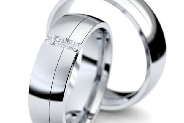 Auch die Ringe für Ihren schönsten Tag im Leben können bei dem Online-Juwelier Amoonìc eine ganz persönliche Widmung bekommen