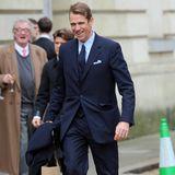 Auch Ben Elliot, Neffe von Herzogin Camilla, ist zur Trauerfeier gekommen.