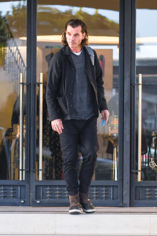 "8. März 2019  Bush-Frontmann Gavin Rossdale verlässt dasLuxus-Kaufhaus ""Barneys NY"" in Los Angeles."