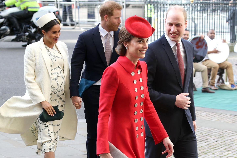 Herzogin Meghan, Prinz Harry, Herzogin Catherine + Prinz William