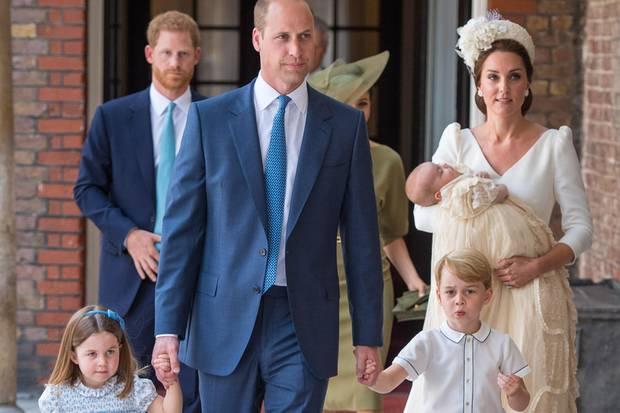Prinz William und Herzogin Catherine mit Prinzessin Charlotte, Prinz George und Prinz Louis