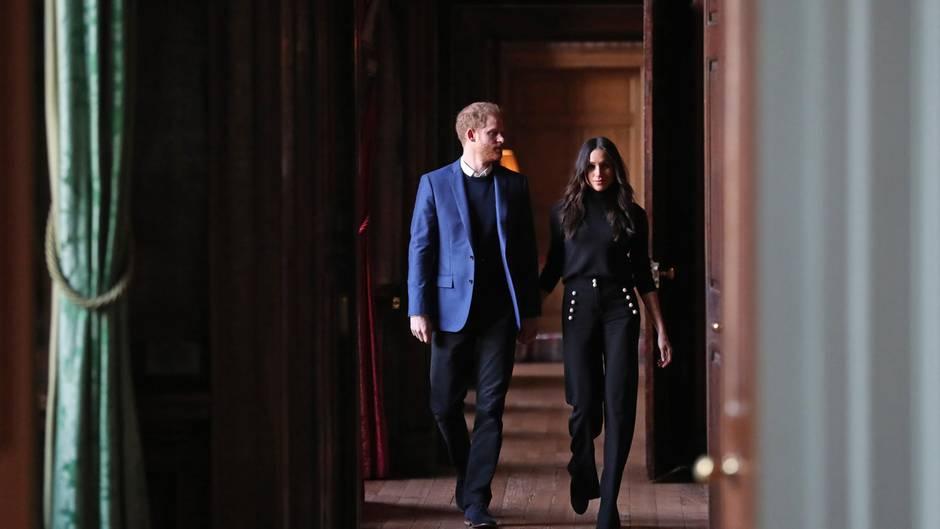 Prinz Harry und Herzogin Meghan bei einem Termin am 13. Februar2018 in Edinburgh, Schottland
