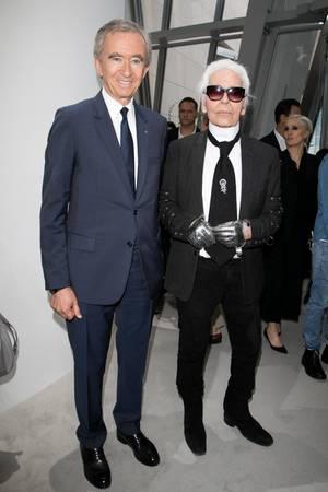 Bernard Arnault und Karl Lagerfeld