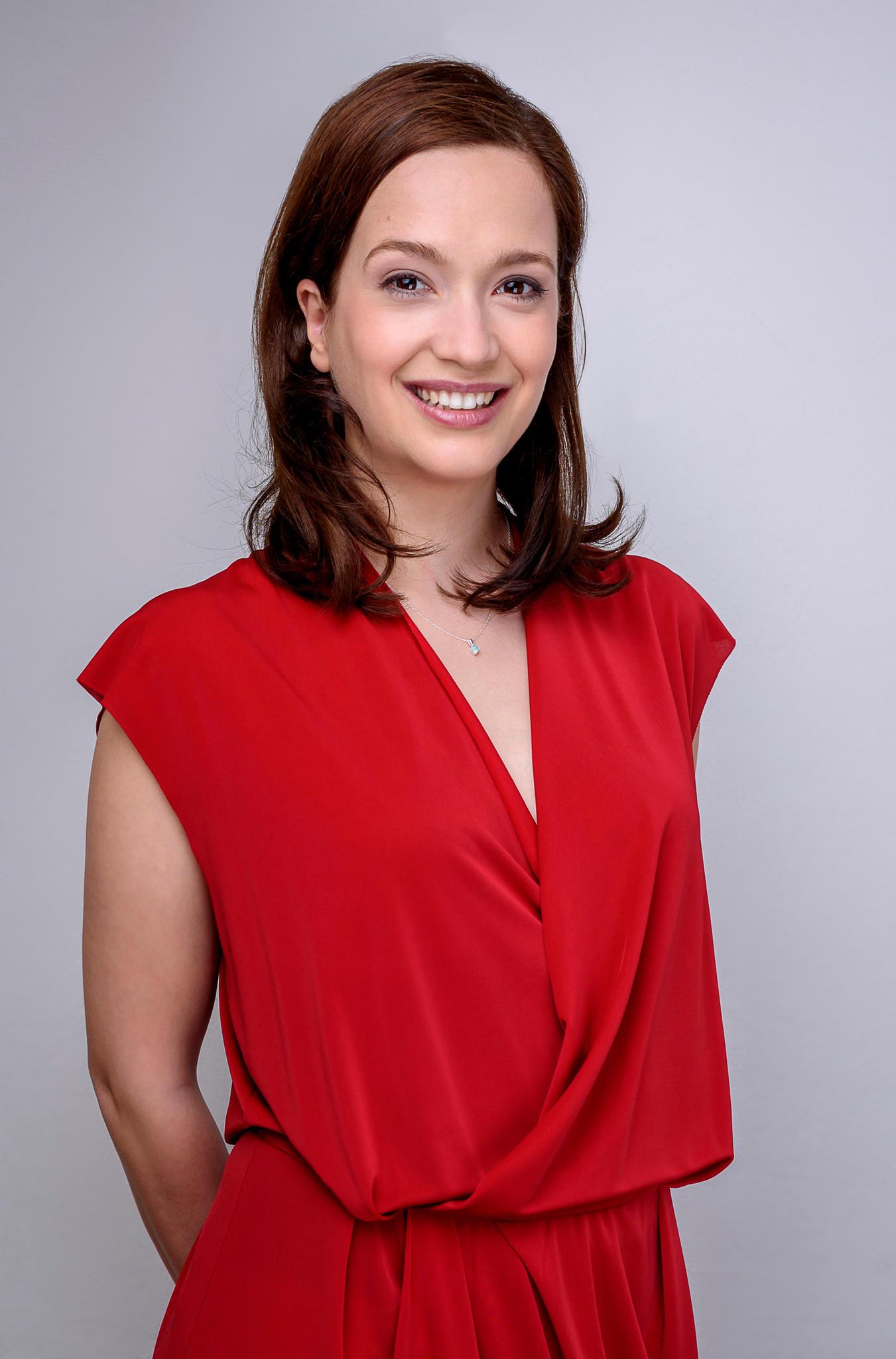 """Uta Kargel spielt die Rolle der """"Eva Saalfeld"""" in """"Sturm der Liebe"""""""