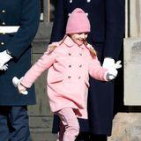 Prinzessin Estelle scheint gerade in ihrer Rosa-Phase zu sein.