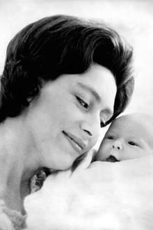 Prinzessin Margaret und ihrem Sohn David