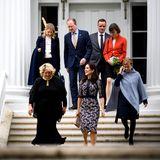Gut gelaunt verlässt Mary nach dem Meeting die Gouvernor's Mansion.