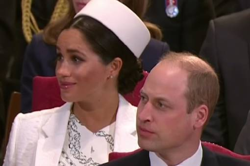Herzogin Meghans Augen funkeln verdächtig während des Gottesdienstes in der Westminster Abbey am 11. März 2019