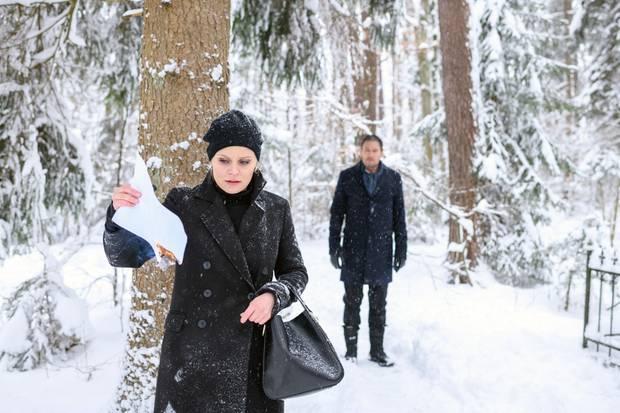 """""""Sturm der Liebe"""": Annabelle (Jenny Löffler) versucht ihr dunkles Geheimnis vor Christoph (Dieter Bach)zu bewahren.Folge 3115 wird voraussichtlich am Donnerstag, den 28. März 2019 ausgestrahlt"""
