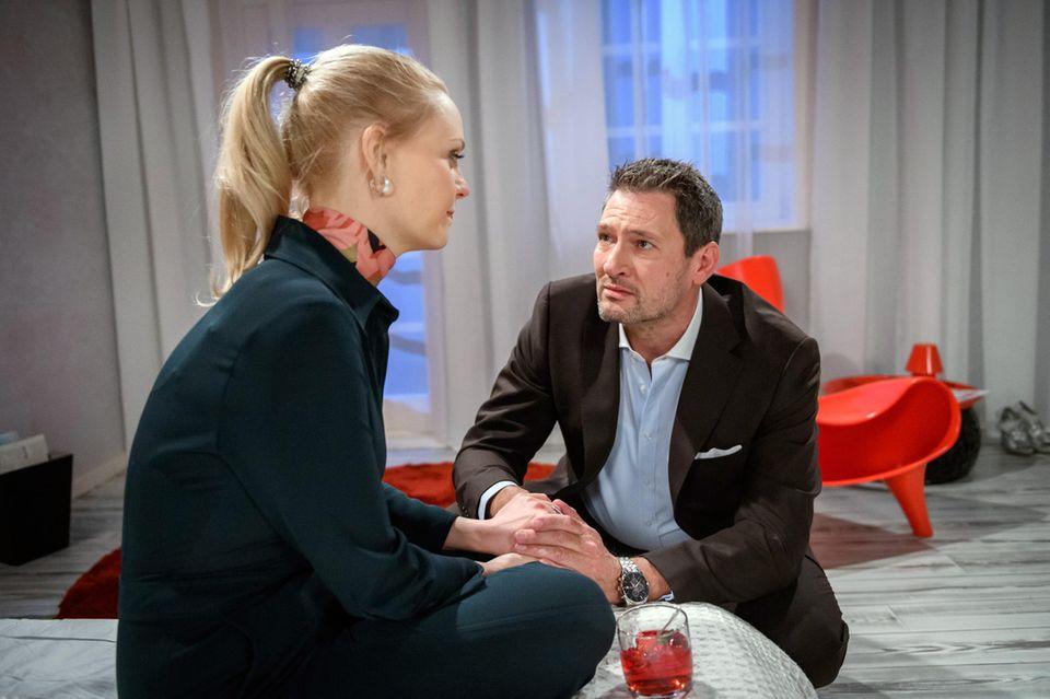 """""""Sturm der Liebe"""": Annabelle (Jenny Löffler) und Christoph (Dieter Bach)"""