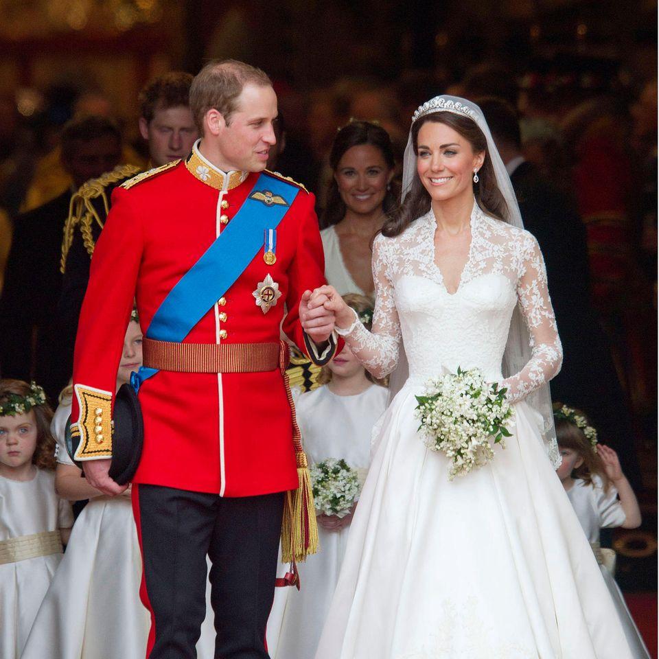 Prinz William und Herzogin Catherine heirateten am 29. April 2011 in der Westminster Abbey.