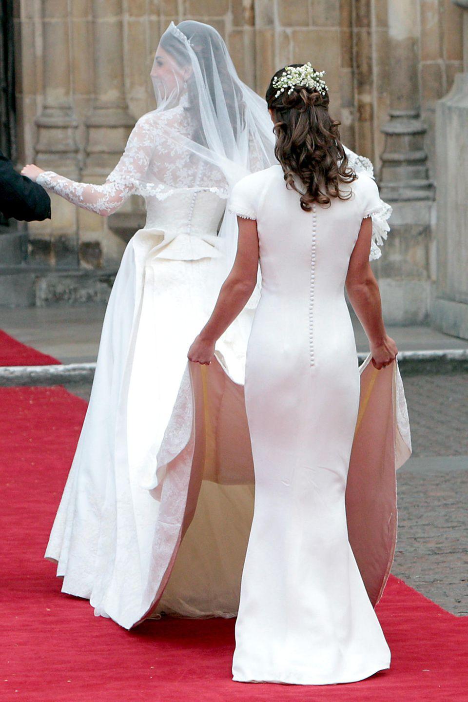 Auch von hinten machte Kate Middleton am Tag ihrer Hochzeit eine gute Figur.