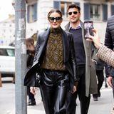 In keiner Front Row darf Olivia Palermo mittlerweile mehrfehlen, meist besucht sie die wichtigsten Fashion-Shows mit ihrem Mann Johannes Huebl.