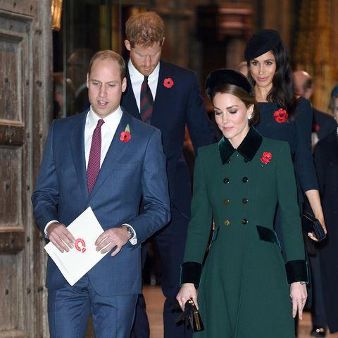 Prinz William und Herzogin Catherine (vorne) bleiben im Kensington Palast, Prinz Harry und Herzogin Meghan (hinten) ziehen nach Frogmore Cottage respektive in den Buckingham Palast