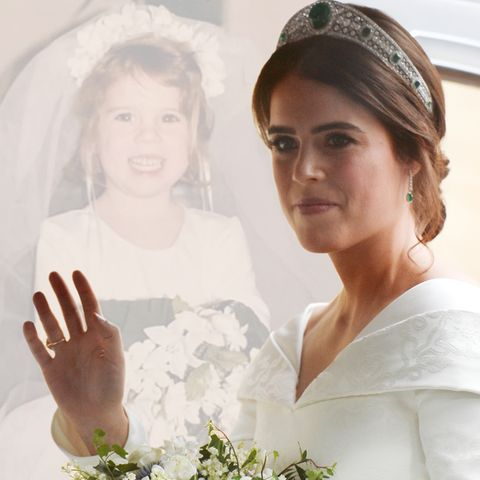 Prinzessin Eugenie: Süßes Kinderbild als Braut