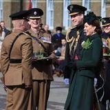 17. März 2019  Prinz William und Herzogin Catherine besuchen in Hounslow am 17. März anlässlich der St. Patrick's Day Parade Offizieredes ersten Battalions der Irish Guards.