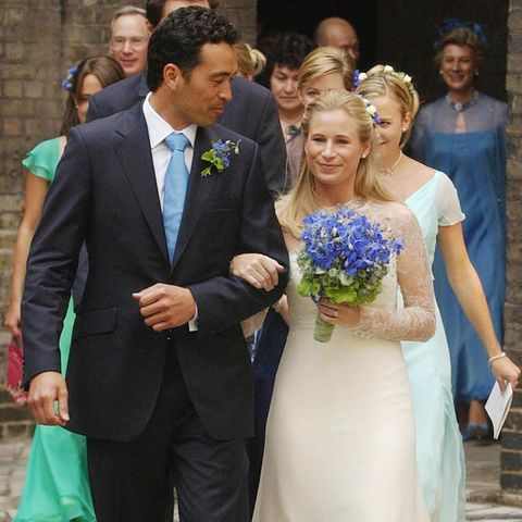 Gary Lewis und Lady Davina Windsor heirateten am 31. Juli 2004 in London.