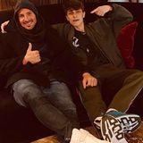 Nach der Show wird gechillt: Benajmin Piwko und Lukas Rieger