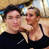Nach dem ersten Trainingstag mit viel Tanz und Gelächterist Profitänzer Evgeny Vinokurov schon sehr stolz auf Evelyn Burdecki.