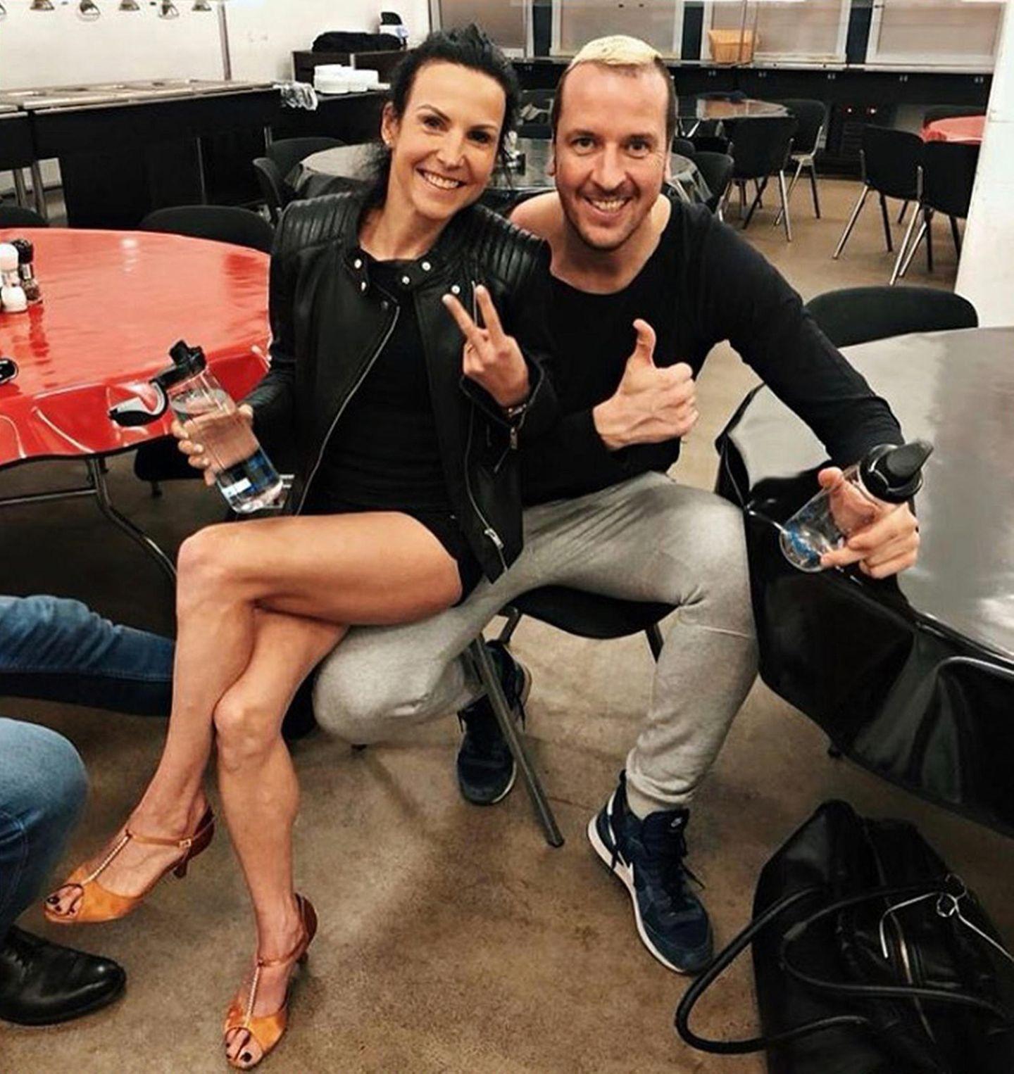 Zwei Spitzensportler freuen sich auf ihre erste Show: Sabrina Mockenhaupt und Pascal Hens