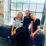 Hier stimmt die Chemie: Ella Endlich, Barbara Becker und Ulrike Fran verbringen die Trainingspausen gemeinsam.