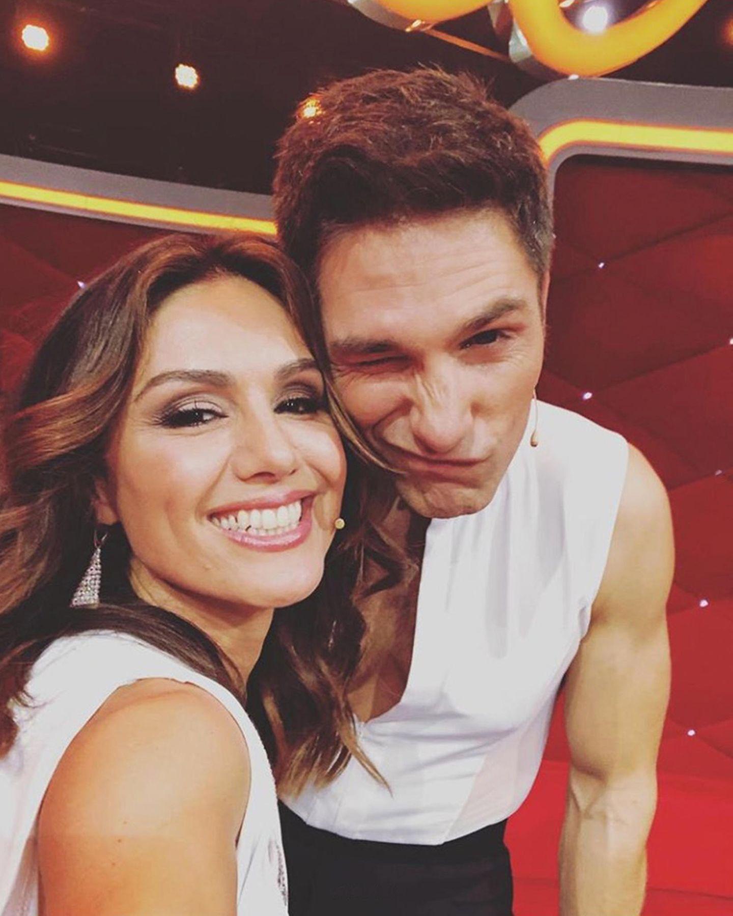 """Was für Lächeln!Nazan Eckes und Christian Polanc sind happy, die erste Show """"überstanden"""" zu haben"""