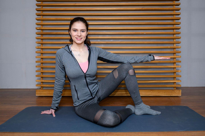 """Sturm der Liebe""-Star Helen Barke beim Pilates"