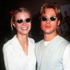 In 1996 feiern Gwyneth Paltrow und Brad Pitt ihr Einjähriges. In den gemeinsamen Monaten haben sie ich optisch bereits ziemlich angeglichen. Jetzt fragt sich nur noch: Was war zuerst da? Die Brille von Brad oder jene von Gwyneth?