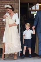 Herzogin Catherine, Prinz Williammit ihren Kindern Prinz Louis, Prinz George und Prinzessin Charlotte (v.l.n.r.)