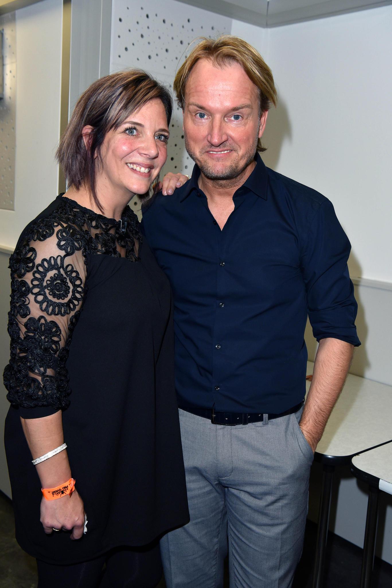 Jens Büchners Witwe Daniela Büchner und Event-Veranstalter Markus Krampe