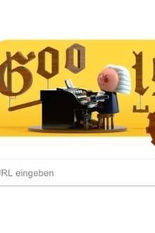 Mit dem Google Doodle soll der Geburtstag von Johann Sebastian Bach gefeiert werden