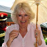Camilla genehmigt sich ein Gläschen Passionsfrucht-Rum.