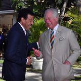 """Auf Barbados trifft sich Charles mit Lionel Richie. Der Sänger ist neueroffizieller Botschafter von Charles' Wohltätigkeitsorganisation """"The Prince's Trust International""""."""
