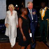 Charles und Camilla sind in Bridgetown auf Barbados zu einem Empfang beim Premierminister eingeladen.