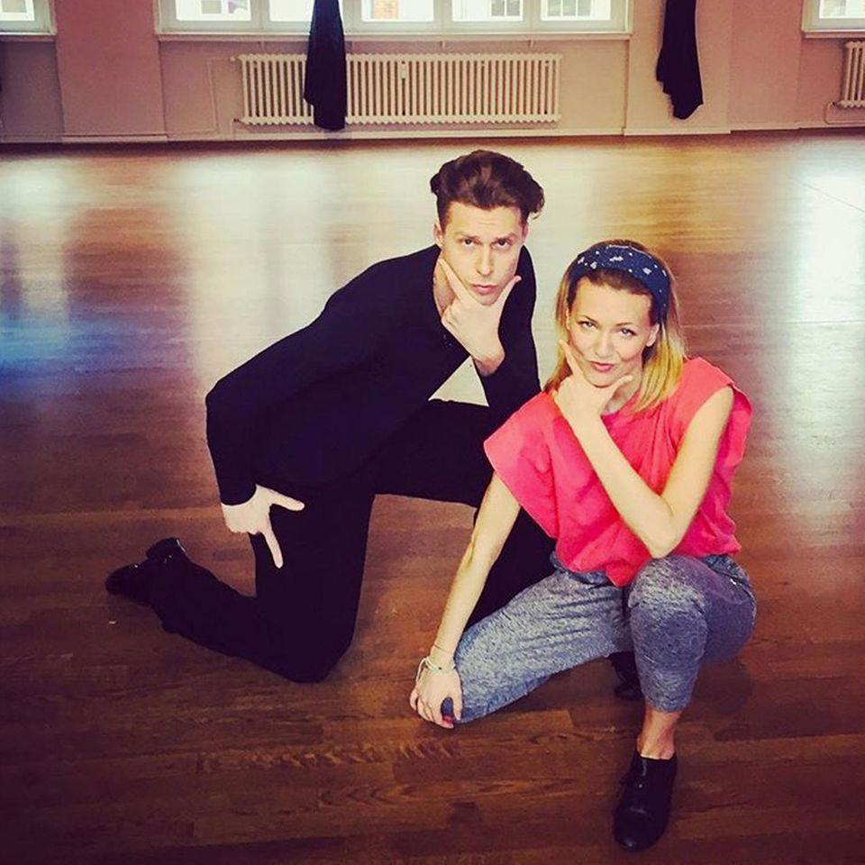 Valentin und Ella haben ihren Teamnamen und auch die passende Pose dafür gefunden: Va'nella!