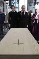 22. März 2019  Königin Mathilde und König Philippe besuchen die Trauerfeier für den verstorbenen Kardinal Godfried Danneels in der Kathedrale Sint-Rombout im belgischen Mechelen. Danneels hatte das Paar einst getraut.