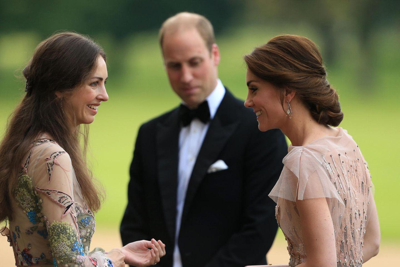 Rose Hanbury (l.), Prinz William (Mitte) und Herzogin Catherine (r.)