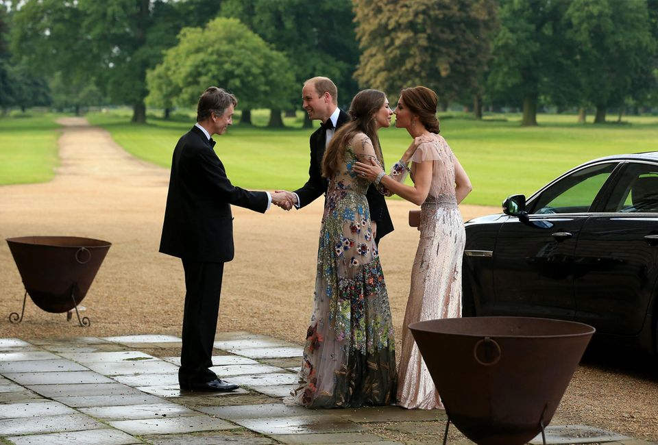 David Rocksavage (l.), Prinz William (2.v.l.),Rose Hanbury (2.v..r.) und Herzogin Catherine (r.)
