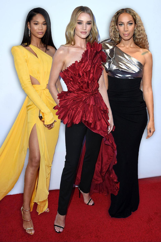 Chanel Iman, Rosie Huntington-Whiteley, Leona Lewis