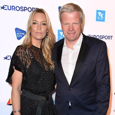 Oliver Kahn mit seiner Frau Svenja.