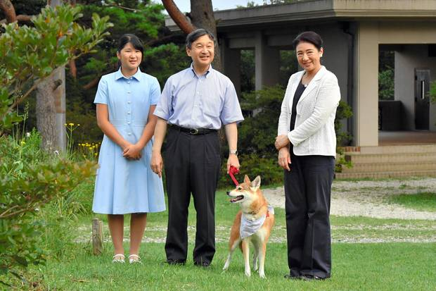 Prinzessin Aiko, Prinz Naruhito und Prinzessin Masako