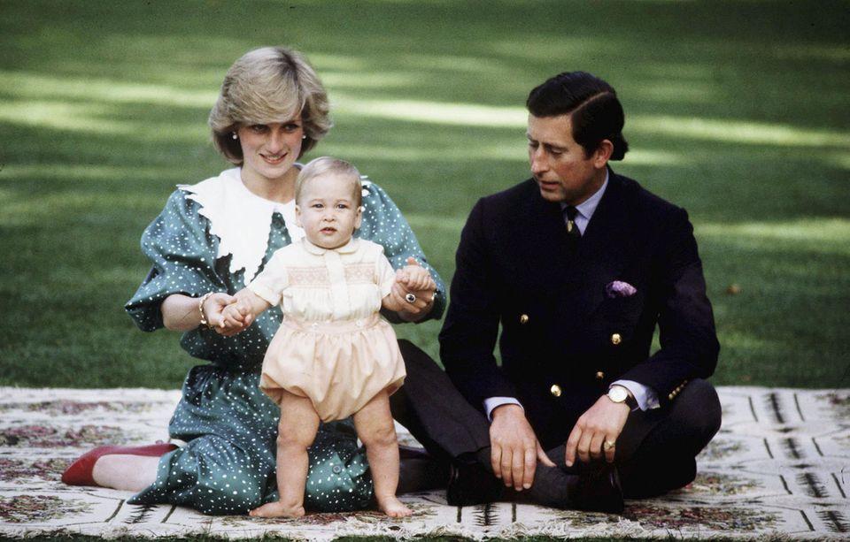 Prinzessin Diana, Prinz William, Prinz Charles