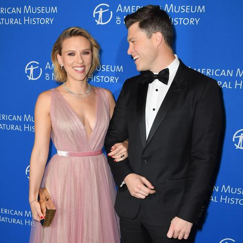 Scarlett Johansson mit ihrem Freund Colin Jost
