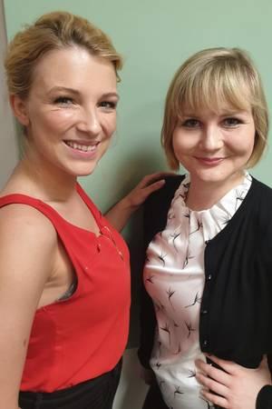 Iris Mareike Steen mit Gala-Redakteurin Jolla