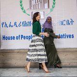 Prinzessin Mary ist in Addis Abeba auf dem Weg ins Parlamentsgebäude.